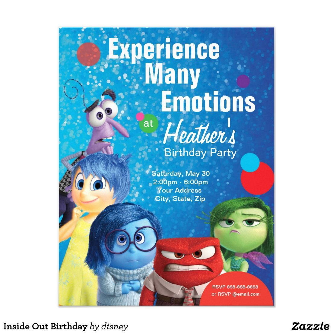 Inside Out Birthday Card Birthdays Birthday Party Ideas And - Birthday invitations inside out