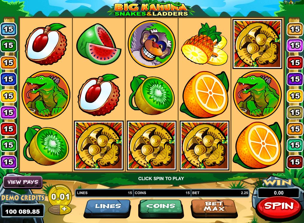 Big kahuna snakes and ladders slot machines