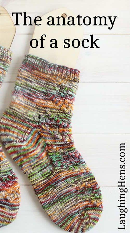 The Anatomy Of A Sock Knit Pinterest Sock Knitting Socks And