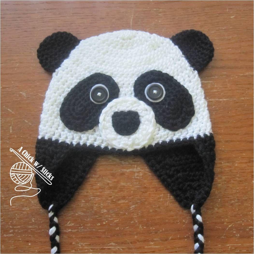 New Pattern: Panda Hat | Hat crochet, Panda and Crochet