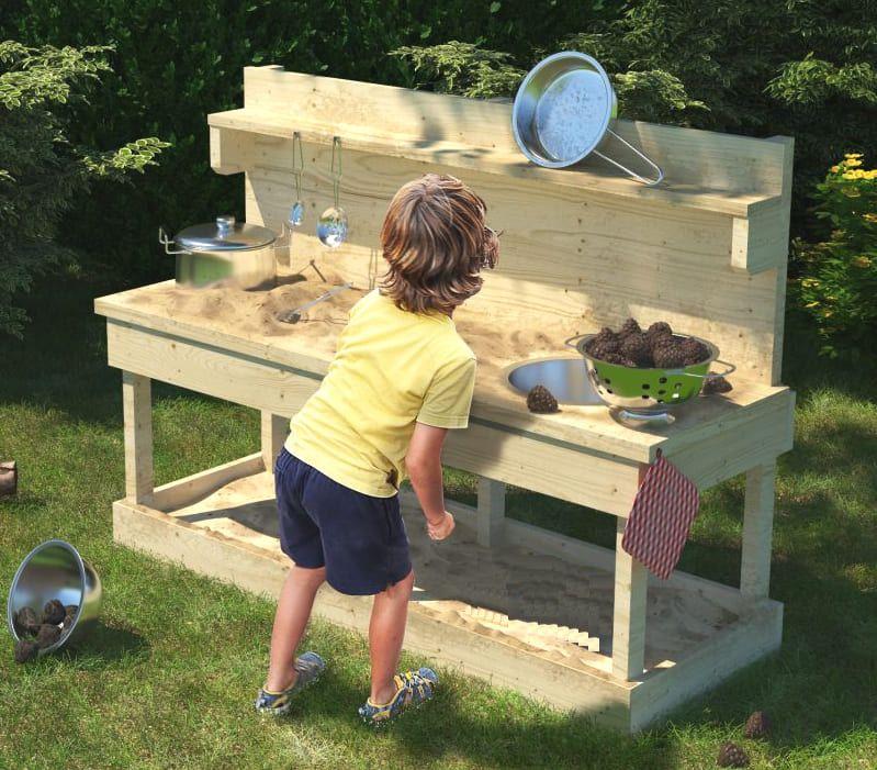 Matschkuche Sandy Mit Kochset Kinderkuche Kochset Kinderkuche Spielgerate Fur Den Garten
