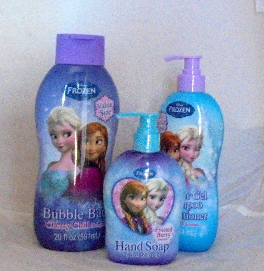 DISNEY FROZEN Bathroom Set For Children BUBBLE BATH, SHOWER GEL, SOAP  #DisneyFROZEN