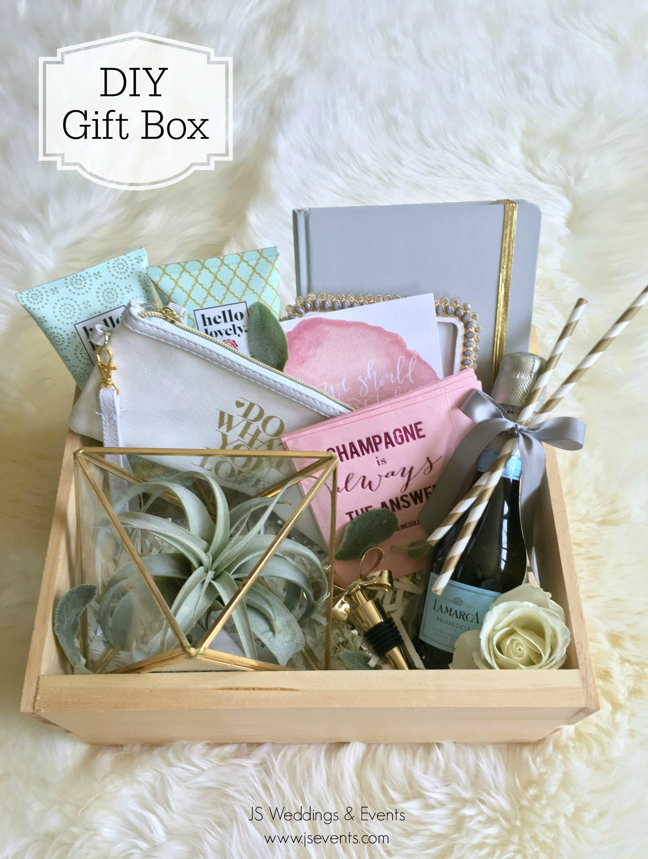 Diy Gift Box Or Bridesmaid S Gift Giftbox Giftboxes Food Crafts