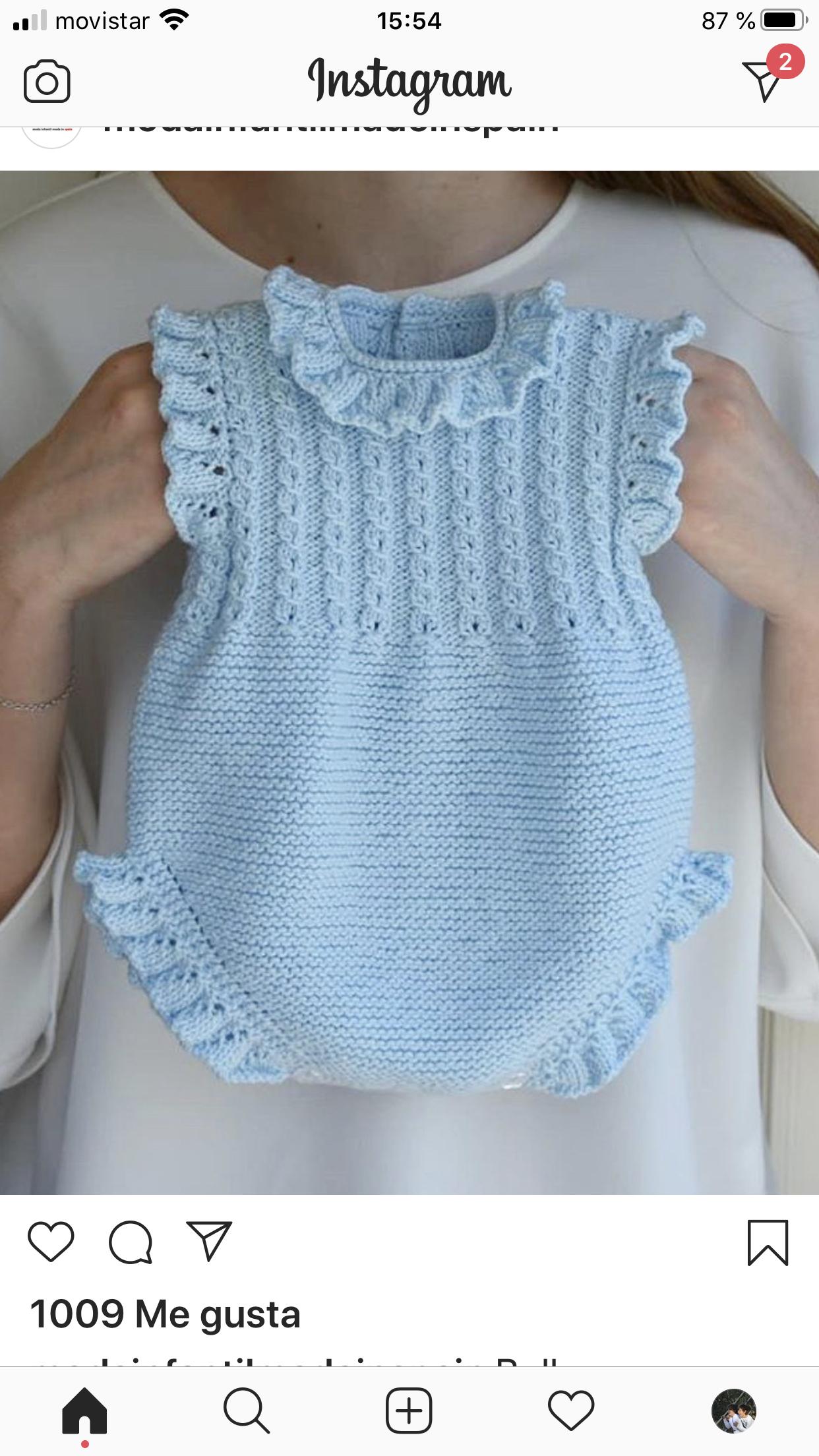 Maria Silva Adli Kullanicinin Prendas De Punto De Bebes Panosundaki Pin 2020 Baby Knitting Patterns Bebek Elbise Ogreticileri Krose