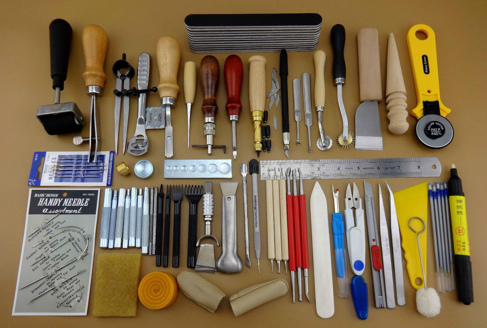 60 tools set for leather crafting