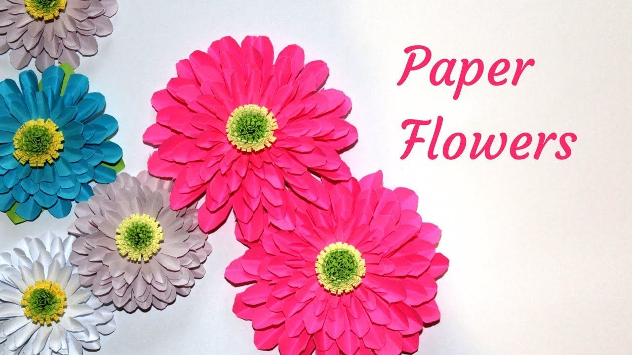 Diy Crafts Paper Flowers How To Make Paper Flower Tutorial