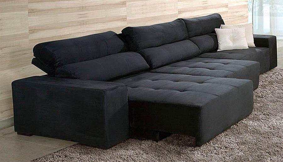 Sof verona retr til e reclin vel 5 lugares preto - Modelos de sofas ...