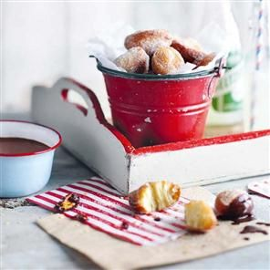 Cinnamon beignets with spiced chocolate sauce recipe. Anton Manganaro's beignets are more doughnut-like than the traditional version (made with choux pastry) but taste just as good especially when dipped in the exotic flavours of the spiced chocolate sauce.