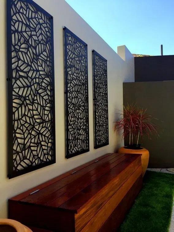 28 Ideas Of Modern Garden Fence Designs For Summer Ideas Garden Wall Designs Outdoor Wall Decor Fence Design