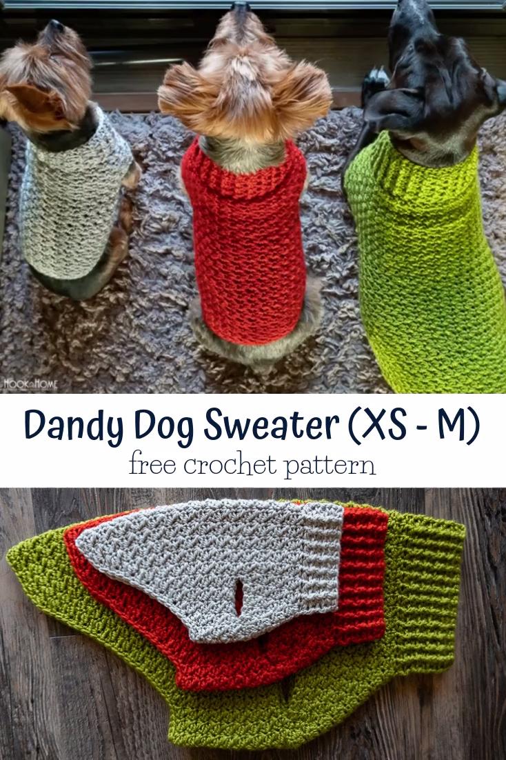 Photo of Easy Crochet Dog Sweater Pattern