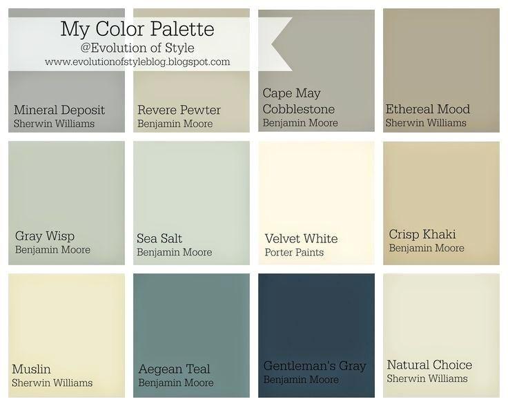 Benjamin Moore Paint Colors Chart Whole House Color Palette