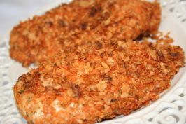 Quick 'n Crunchy Potato Chip Chicken - Marta's Note: Can make into bite sized pieces, Great as appetizers - have used other chip flavors too!!