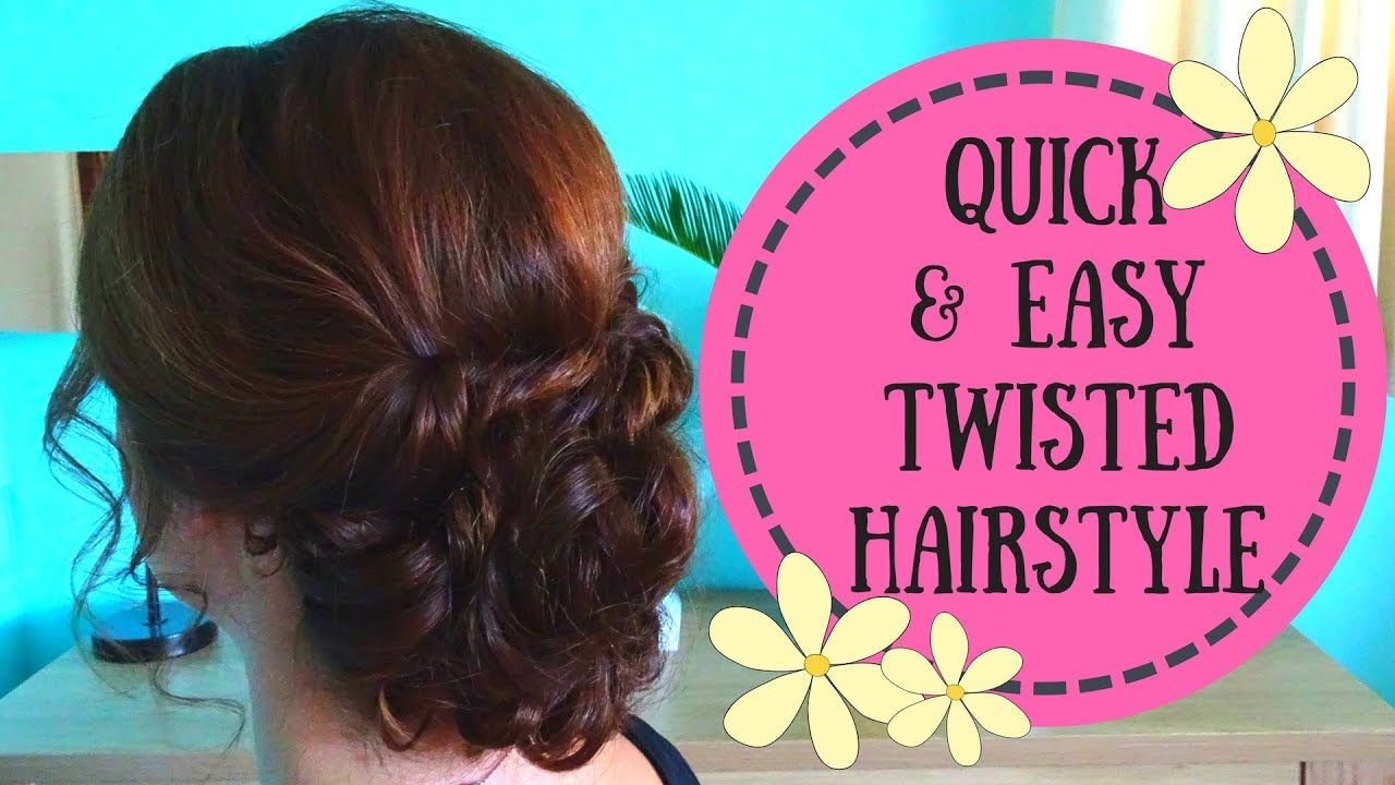 Easy Twisted Hairstyle updo video tutorial. Perfect for weddings ...