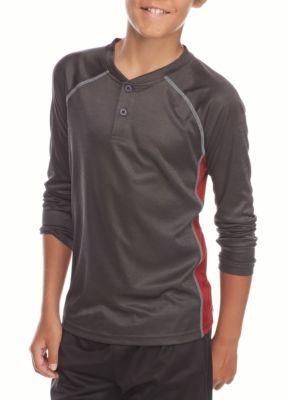 JK Tech  Space Dye Henley Shirt Boys 8-20