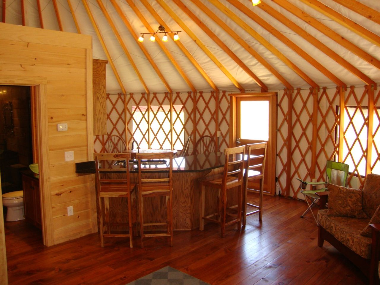 Yurt Bathroom And Kitchen Bing Images With Images Yurt Home