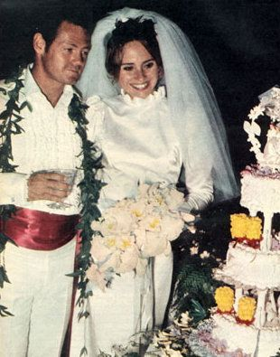 James MacArthur and wife Melody Patterson | Celebrity bride
