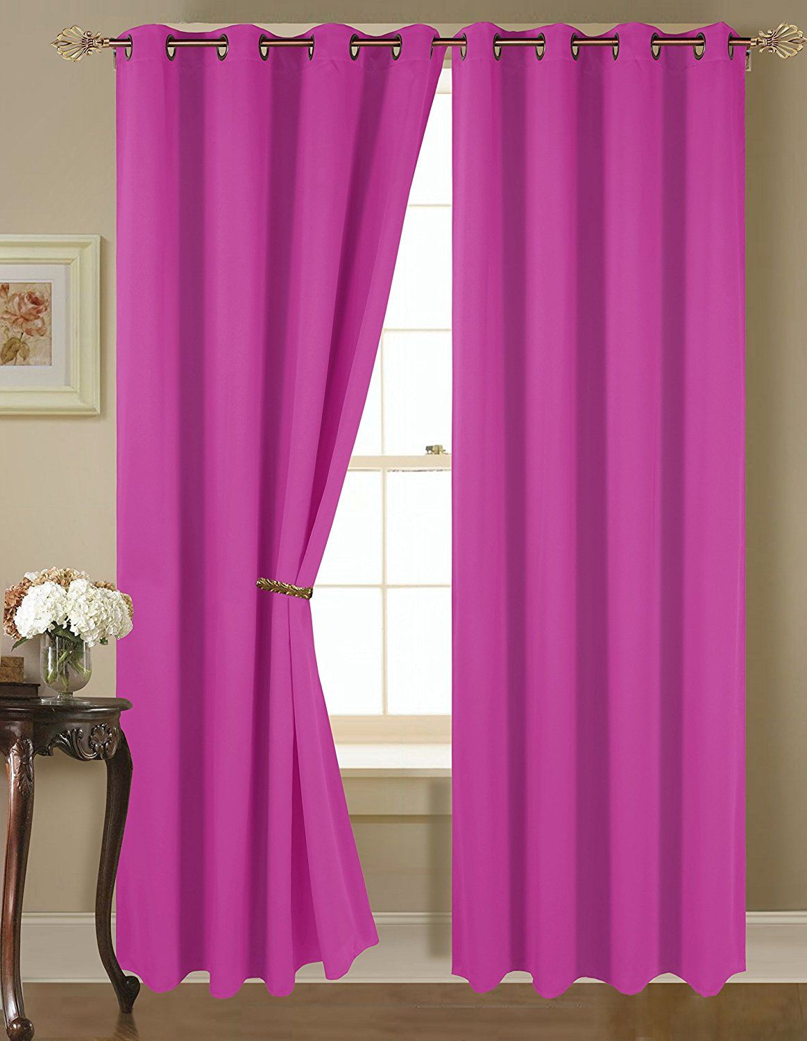 Empire Home Amber Solid Thermal Blackout Grommet Curtain Panel