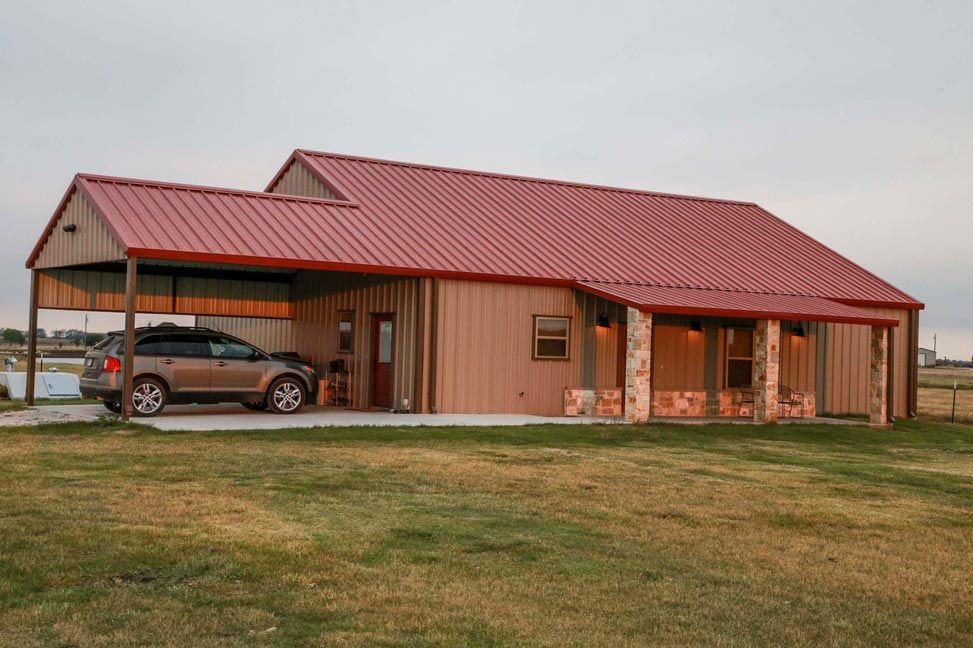 You will be blown away by this perfect metal building home Metal pole barn homes plans