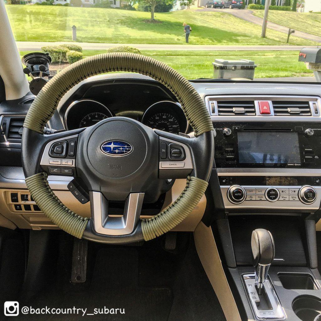 Subaru paracord steering wheel wrap off road subaru for Paracord steering wheel wrap