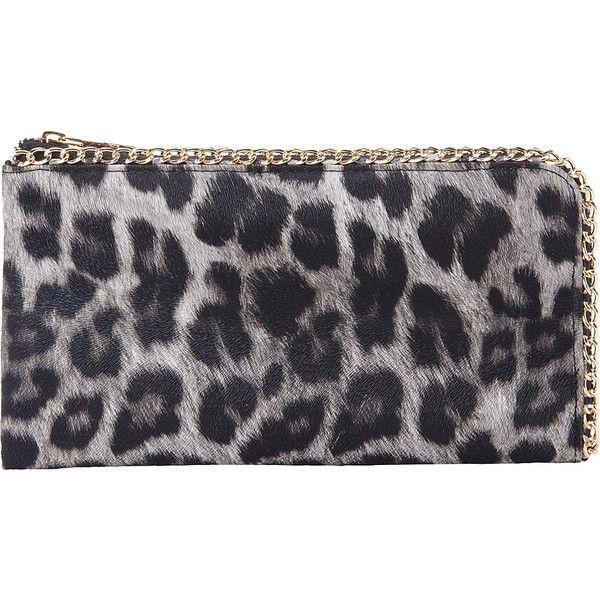 Rebecca Rifka Faux Leather Leopard Print Chain Wallet Women S 28 Liked On