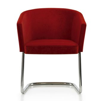 Round Base Chair Blue Metal Chairs Zone Tub With Cantilever Frame Chrome Leg Or Options Are Also Available Seats