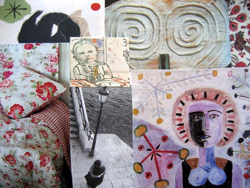 Handmade card, or. collage by Fifi's Dream. OOAK. Detail. For more handmade cards see: https://www.etsy.com/nl/shop/FifisDream?section_id=13426978