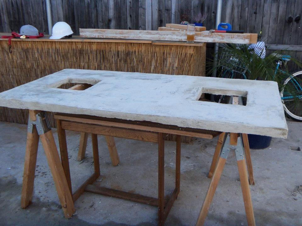 Designer Eco: ECO DIY FEATURE   CONCRETE TABLE
