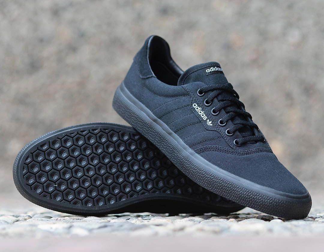 3MC Vulc Shoes | Sneaks | Sneakers, Black shoes, Black adidas