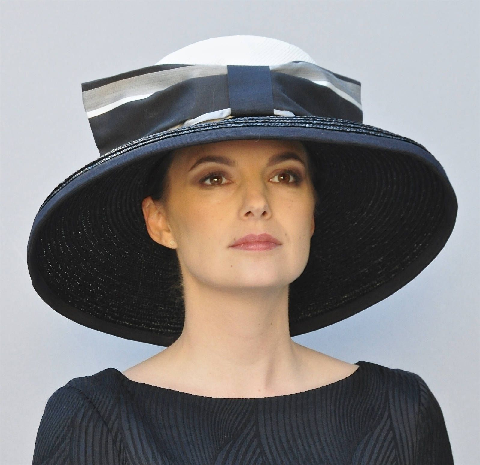 Hat Sale. Black and White Hat, Audrey Hepburn hat, Wedding