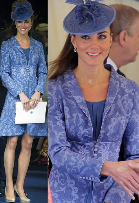 Incredible redingote worn by Kate Middleton