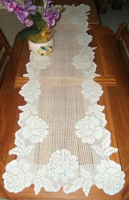 Pin de Sara Zuloaga en caminos de mesa | Pinterest | Visillos ...
