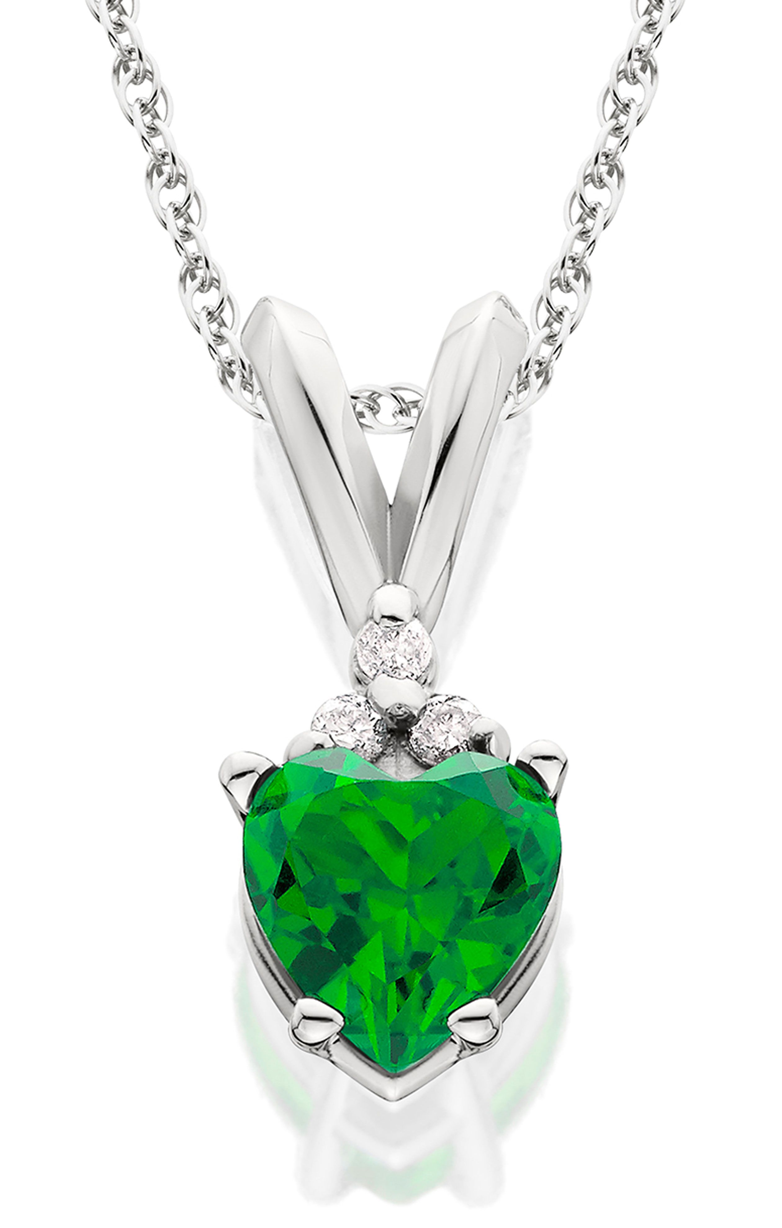necklace diamond carat wg catalog pendant stone emerald