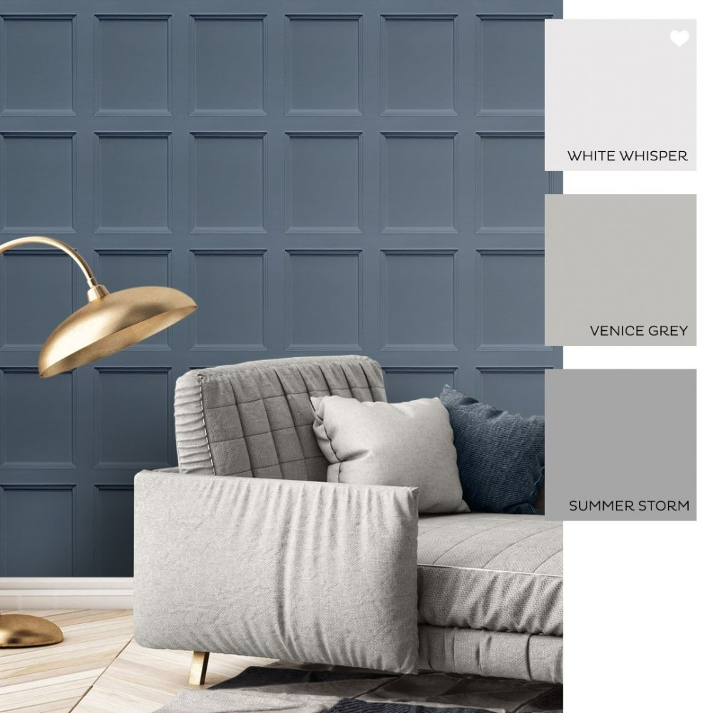 Wood Panel Wallpaper Blue In 2020 Blue Living Room Decor Wood Paneling Wooden Wall Panels