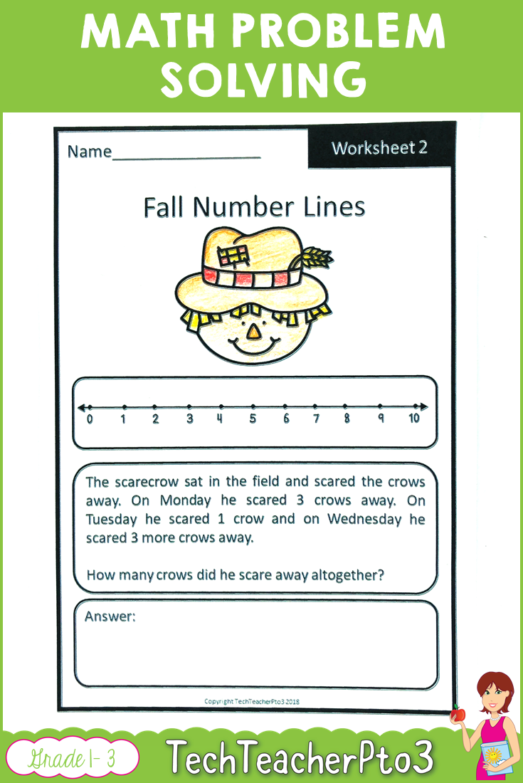 Math Problem Solving Worksheets With An Autumn Fall Theme Use The Strategy See Plan Do And Ch Math Problem Solving Math Problem Solving Strategies Fall Math