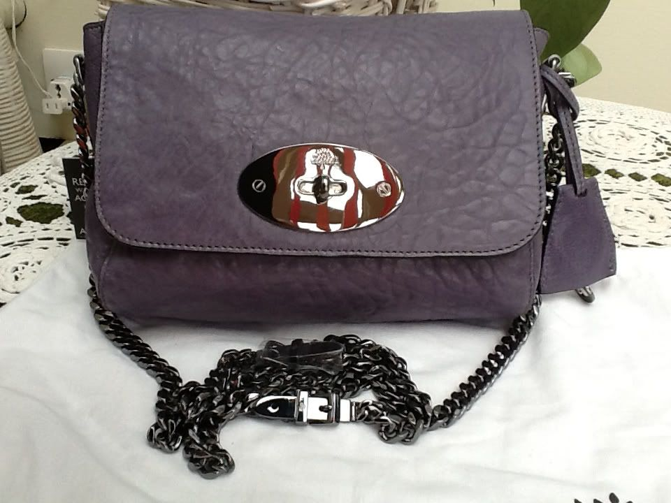 e4f7c629aa Lily with buckle chain in foggy grey large grain nappa | My Bag ...