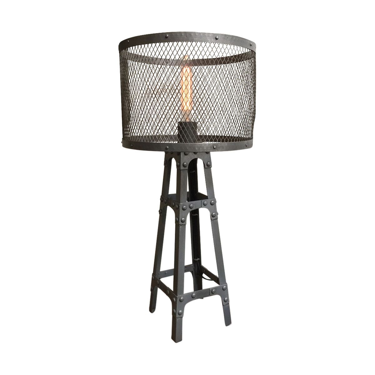 Iron Table Tower Lamp Forsale Trove Market Iron Table Lamp Tripod Lamp