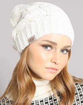Ugg Cable Knit Oversized Beanie Hat  36c36f4c4