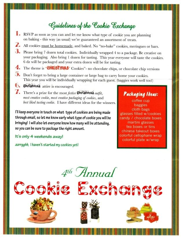 Guidelines for Exchange...like a few of them...prize also for best ...