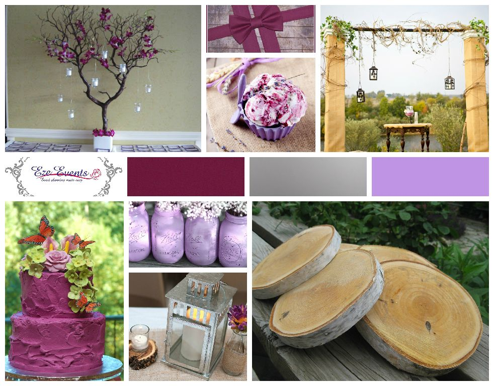 Sangria Lavender And Silver Wedding Check Out This Palette For A Rustic