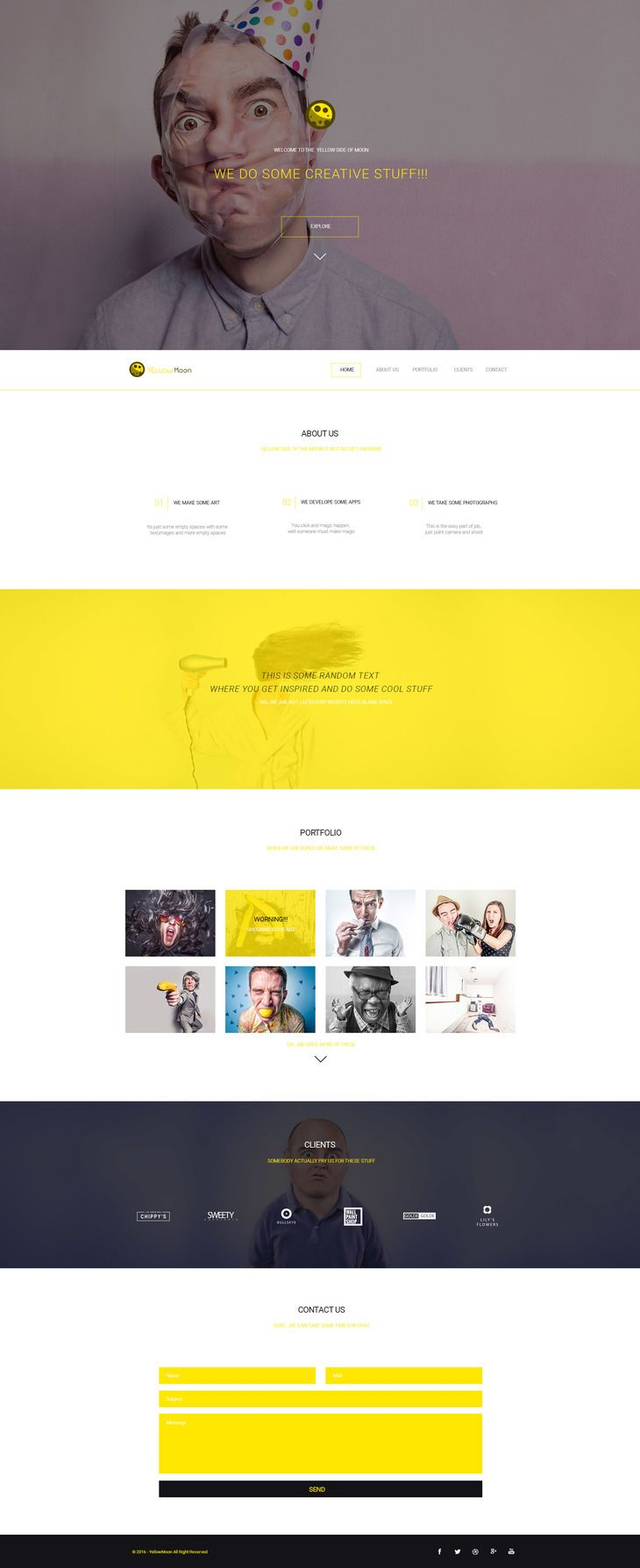 Yellowmoon Free Psd Landing Page Preview