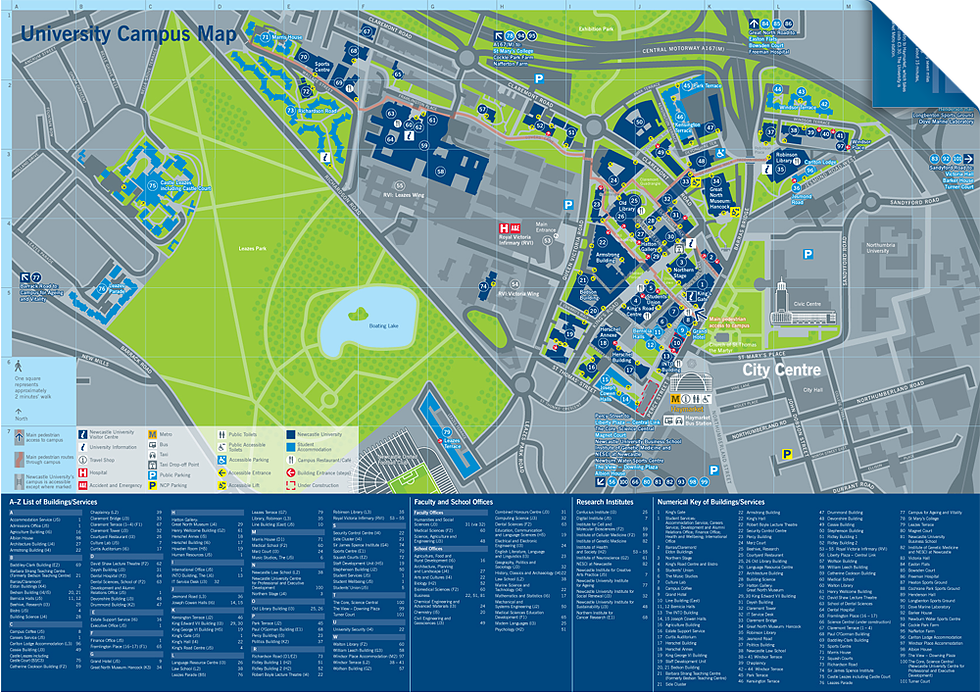 Newcastle University Map fwdesign: wayfinding & design consultants | Mapping | Design