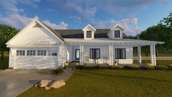 One Story Modern Farmhouse Fitzgerald Modern Farmhouse Plans Modern Farmhouse Exterior Farmhouse House