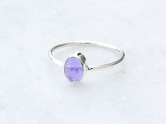 Amethyst Ring Amethyst Stone Silver Ring Silver by silvershop925