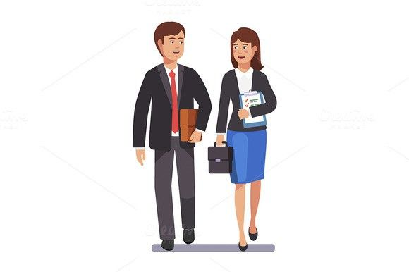 Two business professionals. Human Icons. $3.00