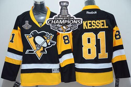 ... Penguins 81 Phil Kessel Black Alternate 2016 Stanley Cup Champions  Stitched Youth NHL Jersey ...