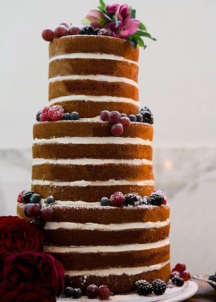 Torta nuziale wedding naked cake tendenza 2015 esempio5