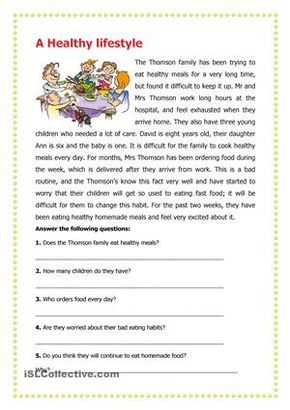 Learners are required to read the passage and then answer the ...