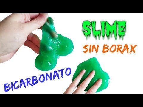 Como Hacer Slime Casero Sin Borax Con Bicarbonato Youtube