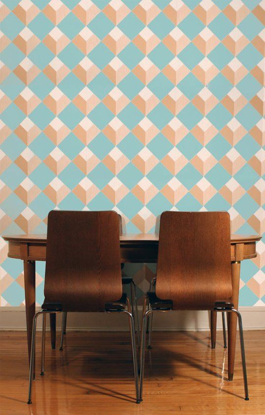 Removable Wallpapers by Style: Modern   Wallpaper, Apartment therapy ...