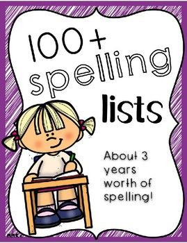 This mega pack of spelling activities has enough lists to ...